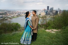 Different angle of the elegant Indian couple