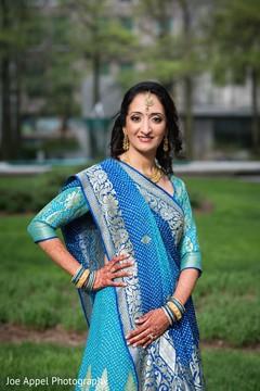 Portrait of the beautiful maharani wearing the sari