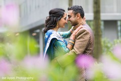 Lovely moment between the Indian couple before the ceremony