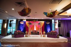 Colorful venue design for the Indian wedding rituals