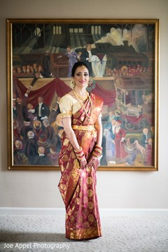Portrait of the beautiful maharani prior to the ceremony