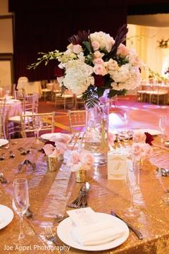 Floral arrangement design for the table center pieces