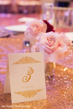 Detail of the table ids design for the Indian wedding