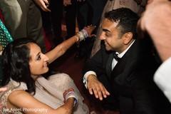 Maharani dancing with the Raja and guests