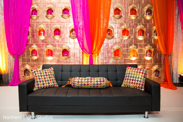 Wonderful Indian wedding stage couch.
