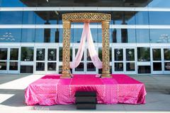 Marvelous indian wedding stage decoration.