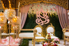 Magnificent Indian mandap elephant and flowers decoration.