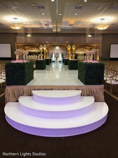 Magnificent Indian wedding aisle decoration.