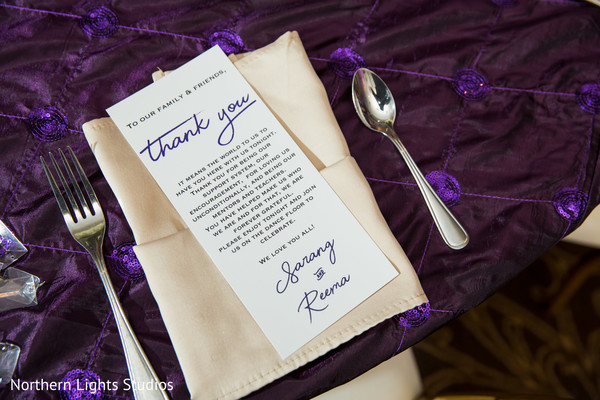 Indian wedding reception thank you card.