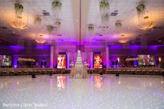 Marvelous Indian wedding dance floor decoration.