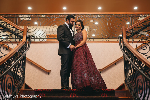 Lovely capture of the Indian couple before the ceremonies