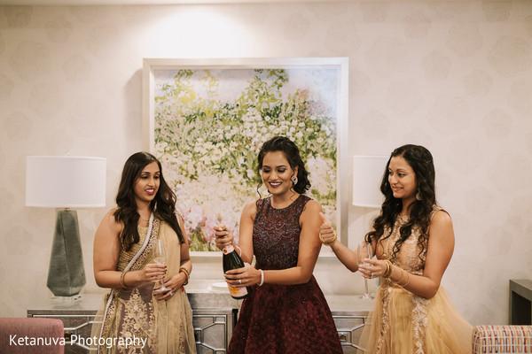 indian wedding,maharani,getting ready,bridesmaids