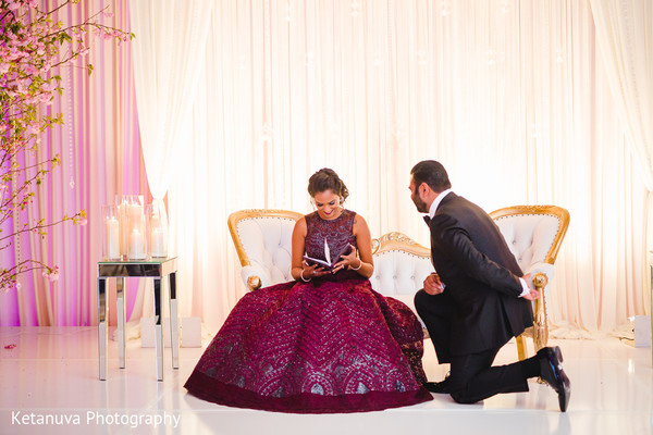 Indian bride reading the raja's surprise