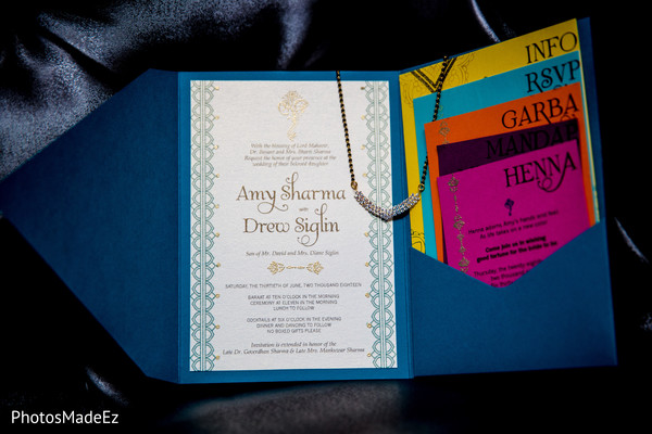 Dazzling indian wedding invitations.