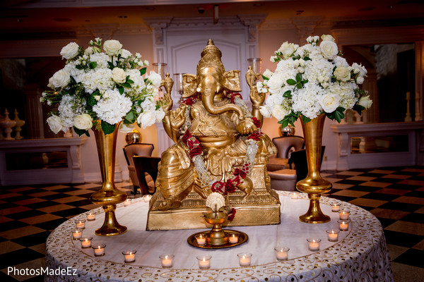 ganesha puja,indian wedding ceremony,indian wedding ceremony decor