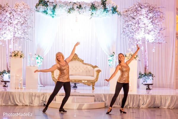 Magnificent Indian wedding reception tap dance capture.