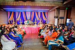 Overview of the Indian wedding guests at the fun sangeet