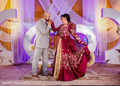 Tender moment between the Indian groom and the maharani