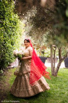 Dazzling maharani during the photo shoot outdoors