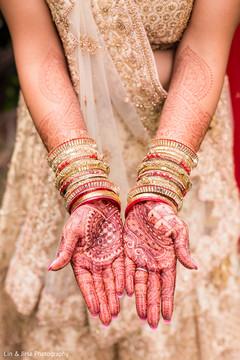 Amazing mehndi design on the maharani's hands