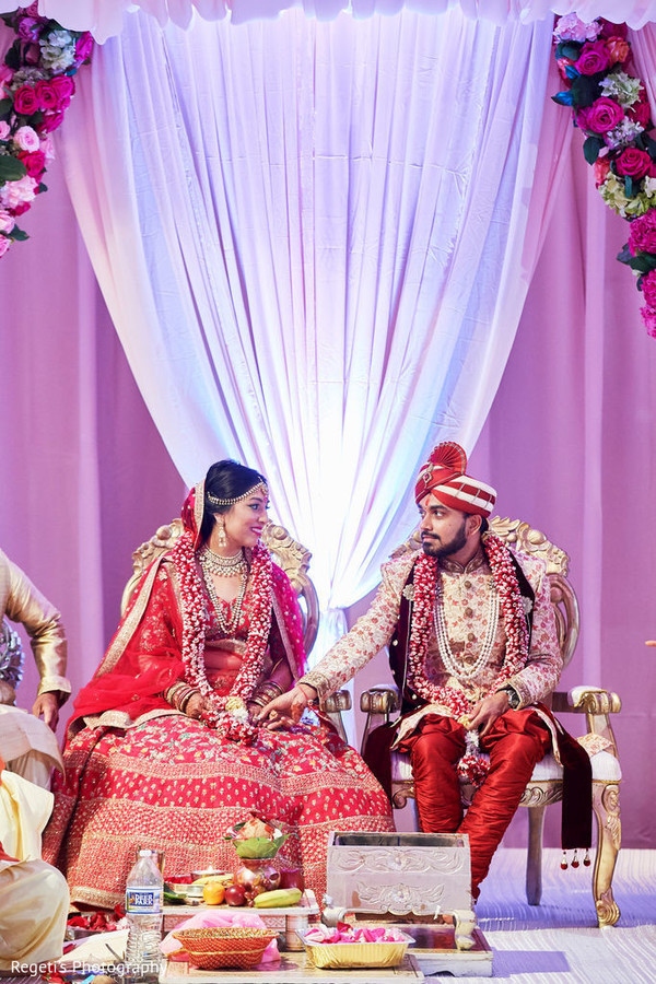 bridal lengha,indian wedding ceremony,mandap