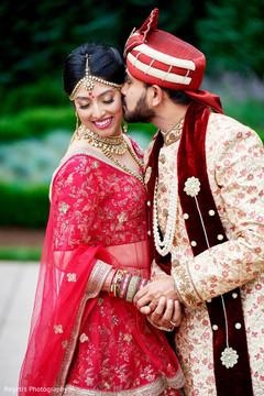 Sweet indian couple portrait