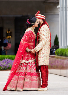 Memorable indian couple first look