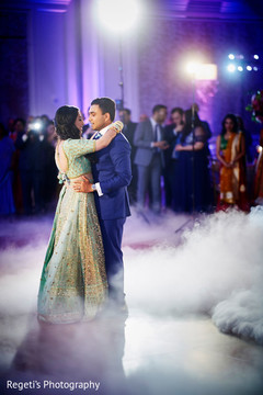 Dreamy indian newlyweds first dance