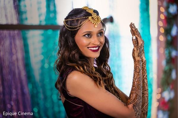 Indian bridal mehndi