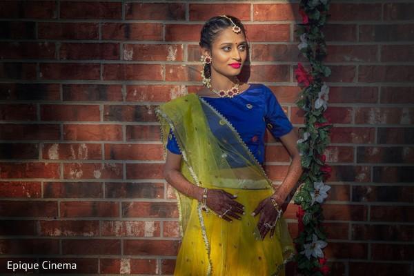 Indian bride on Haldi Ceremony