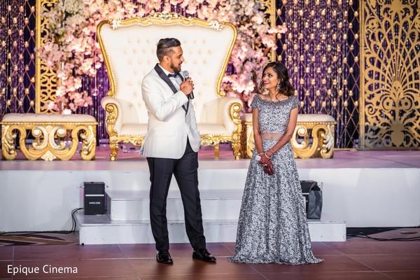 reception fashion,wedding stage,bridal lengha