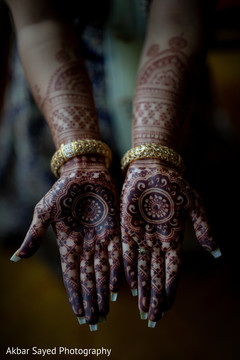Detail of the incredible mehndi design on the maharani's hands