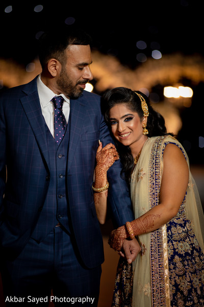 Lovely capture of the Indian newlyweds outdoors
