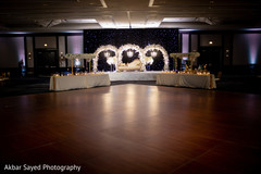 Overview of the Indian wedding reception space at the venue