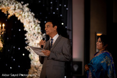 Maharani's father delivering a speech for the Indian newlyweds