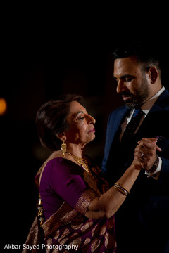 Lovely moment between the Indian groom and his mother