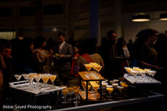 Delicious drinks welcome the Indian wedding guests to the reception