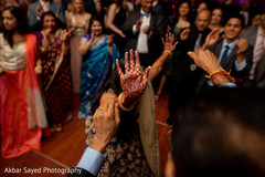 Beautiful capture of the mehndi design while maharani dances