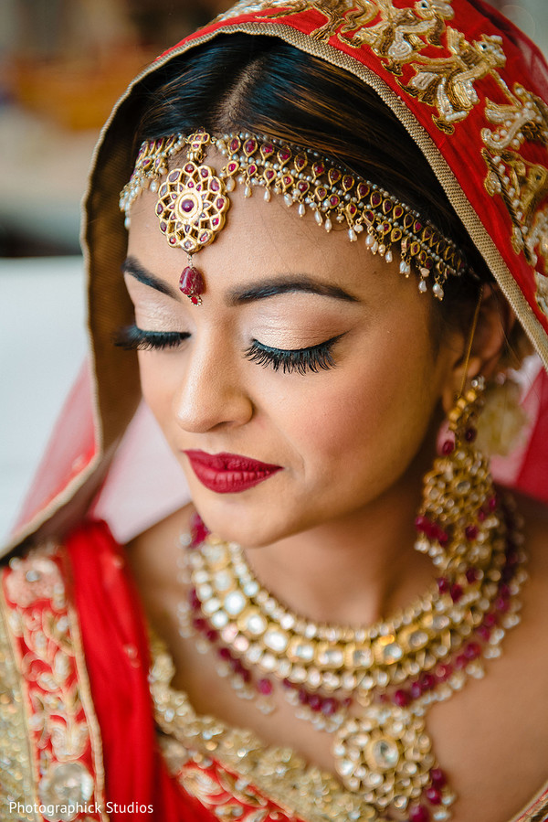 indian bride,jewelry,indian bridal hair and makeup