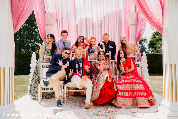 Fun capture of the Indian newlyweds with special guests