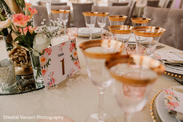 Lovely design of the table identifications for the reception