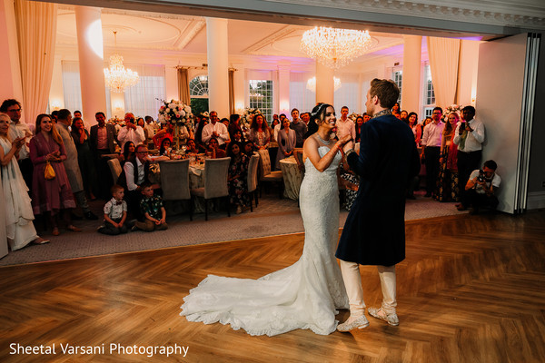 Stunning maharani and groom having their first dance