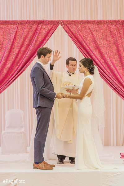 Maharani and maharaja at their wedding ceremony.