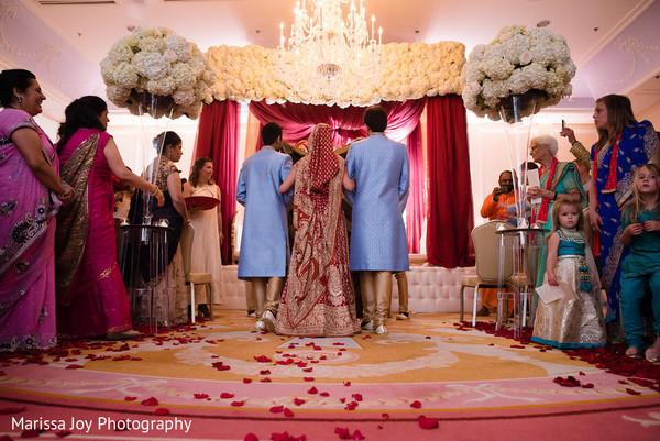 Guests observe the beautiful maharani as she makes her entrance
