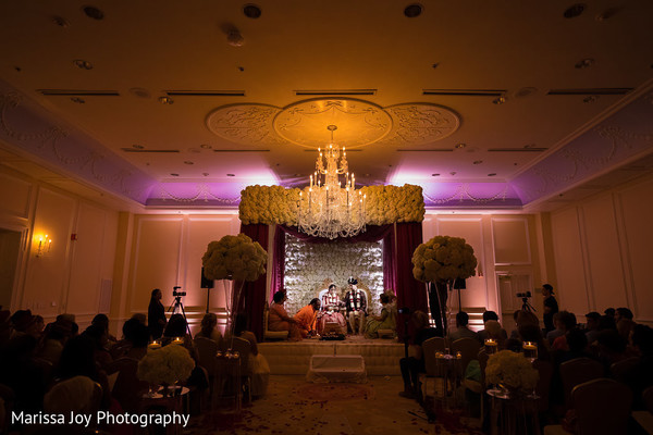 Amazing overview capture of the mandap at the Indian wedding ceremony