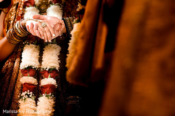 Beautiful capture of the Indian couple holding hands