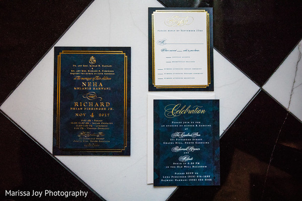 Elegant Indian wedding invitations detailed capture
