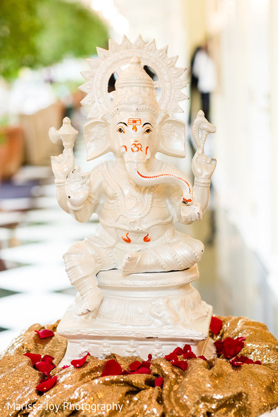 Statue of Ganesha in display at the Indian wedding venue