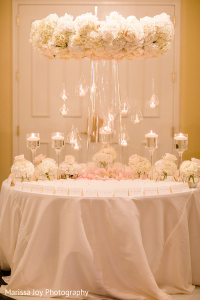 Incredible cloud looking floral arrangement for the reception