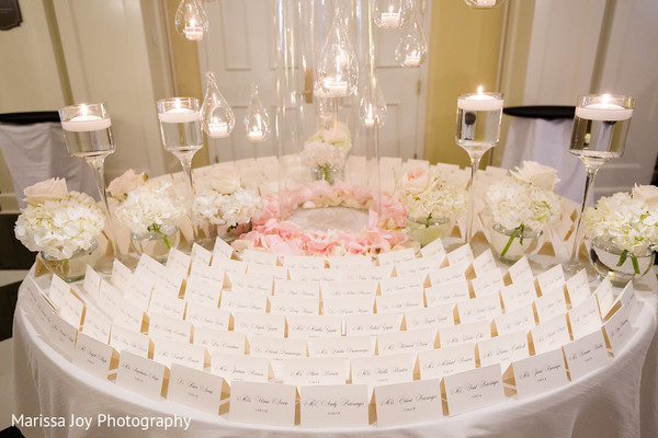 Table assignment space surrounded with decoration